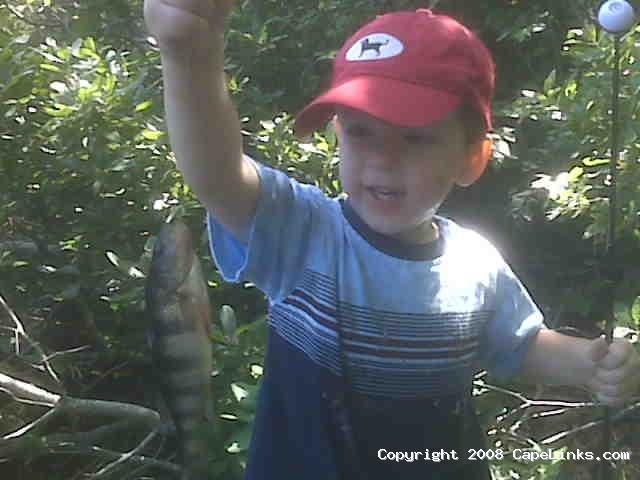 a boy's first fish