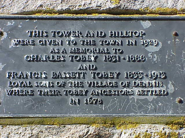 scargo tower plaque