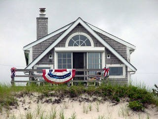 View of home from standing on beach waterfront-cottage-with-amazing-views-of-cape-cod-bay_sanddollar